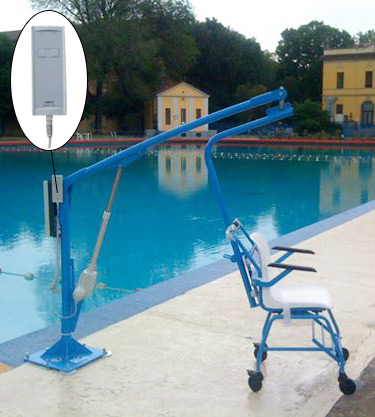 F145B detachable chair lift for disabled pool access