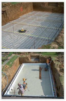 Floor screed ASTRAL First Bloc concrete pool kit