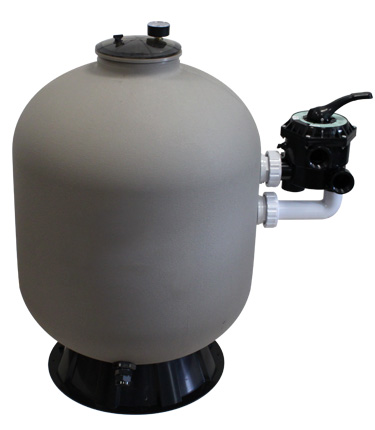Large view caliente side pool filter