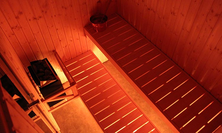 Inside lighting Harvia Basic Line steam sauna