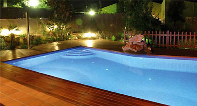 Astral Lumiplus Wireless LED pool projector insitu