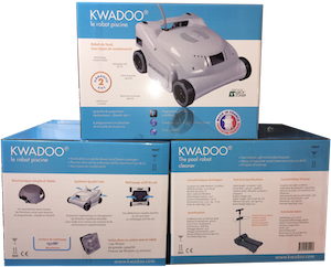 Packaging Kwadoo electric pool cleaner
