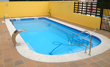 PAROS polyester shell pool installed