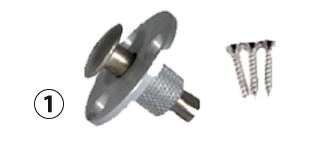 Screw piton for wooden surfaces