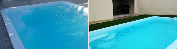MERINA pool, polyester shell in situ