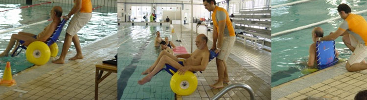 JOB submersible wheelchair   pool use