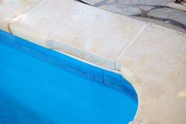 Pool border trim