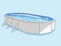 Pool adapted for up to 4 domes