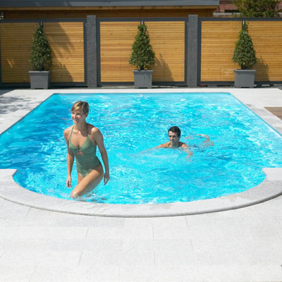 Recypool inground pool kit made from recycled polyethylene