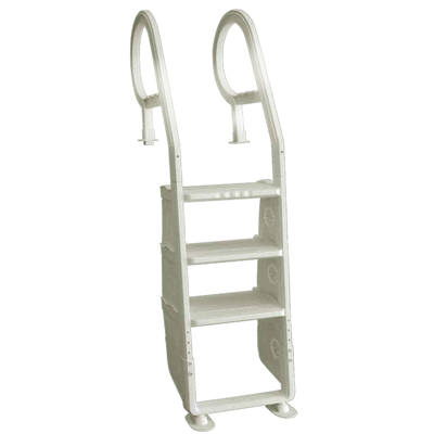 Adjustable 3 step ladder for inground pools
