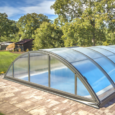 Silhouette pool enclosure