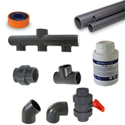 Tradipool plumbing kit for technical shelter