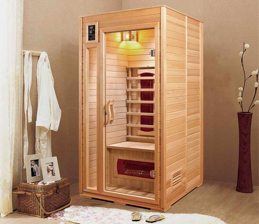 Full view NEVADA 1 place infrared Sauna