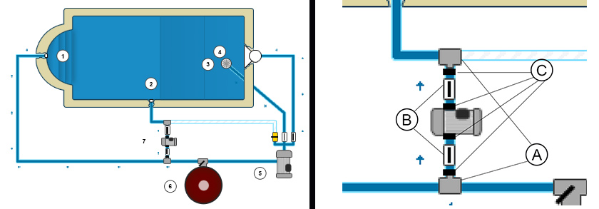 Connection schema for booster pump