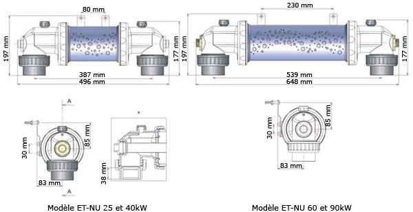 CLIMEXEL heat exchanger solo   dimensions