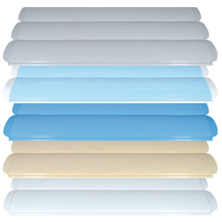 Available colours for slats