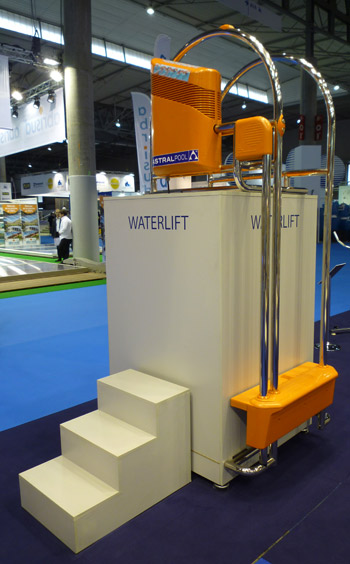 Astral Waterlift motorised pool ladder