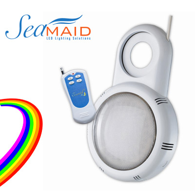 SeaMAID above ground pool multicoloured LED projector