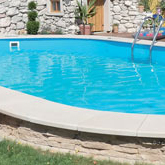 Mahogany inground zinc-plated steel sheet pool kit