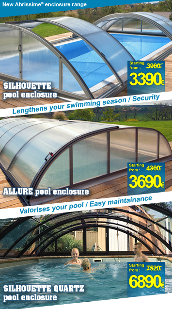 Abrissime range of pool enclosures