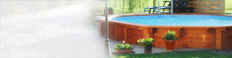 BILBAO HEXAGON wooden pool, 4.22x1.24m, filtration 5m³/h