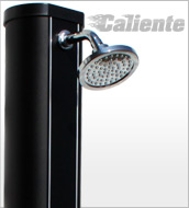 Solar shower CALIENTE Black Design 32 litre with water mist