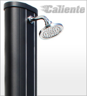 Solar shower CALIENTE Black Design 40 L + water mist