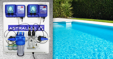ASTRALPOOL automatic regulation with Chlorine and pH peristaltic pumps flow rate 2,4l/h