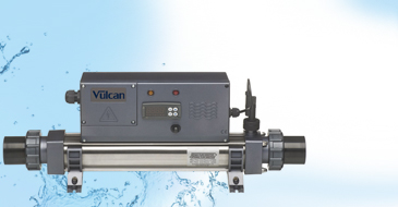 ELECRO VULCAN titanium digital 3-kW pool heater single-phase, max volume pool  20m³