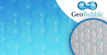 Sol+Guard GeoBubble 500 micron non hemmed pool cover dimensions  8 x 4m  delivered with eyelets