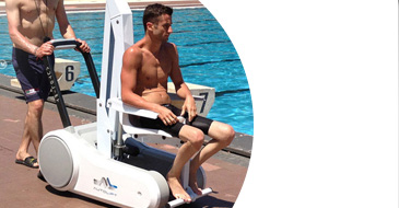 I-swim mobile chair lift for disabled pool access