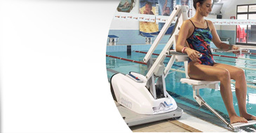 I-swim 2 mobile seated chair lift for disabled pool access