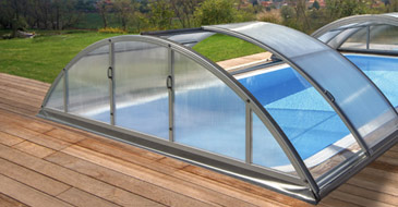 SILHOUETTE pool enclosure M 361x646x100 H  aluminium finish