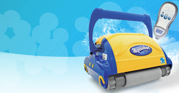 Aquabot SUPER BRAVO pool cleaner with transportation trolley