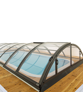 SILHOUETTE QUARTZ pool enclosure XL 471x860x130 H anthracite finish