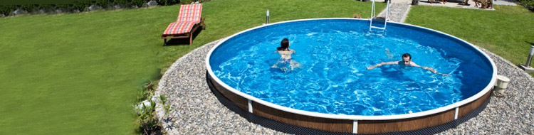 AZURO 403 round, steel above ground pool